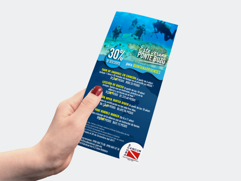 Scuba Cancún folleto